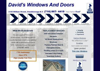 David%27s+Windows+%26+Doors Website