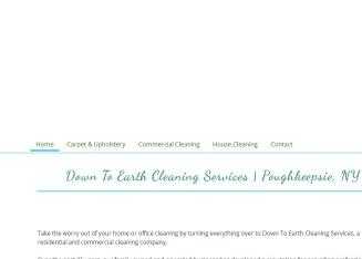 Down+To+Earth+Cleaning+Services Website