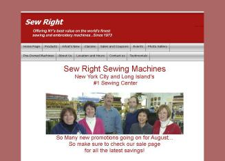 Sew+Right+Sewing+Machines Website