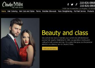 Claudio+D%27italia+Hair+Salon Website