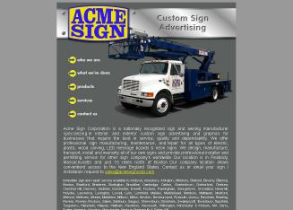 Acme+Sign+Corporation Website
