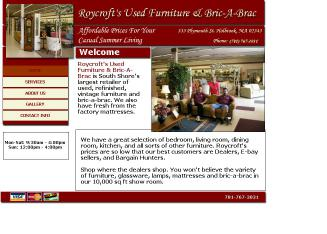 Roycroft%27s+Used+Furniture+%26+Bric-A-Brac Website