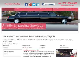 Affinity+Limousine+Services Website