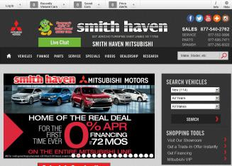 Smith+Haven+Mitsubishi Website