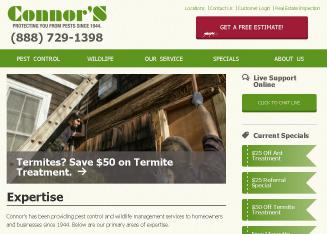 Connor%27s+Pest+Protection Website