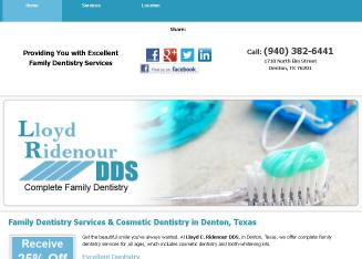 Lloyd C Ridenour DDS