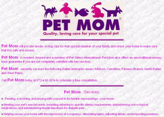Pet+Mom Website