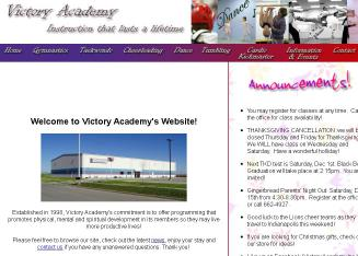 Victory+Academy Website