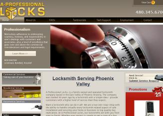 A+Professional+Locks Website