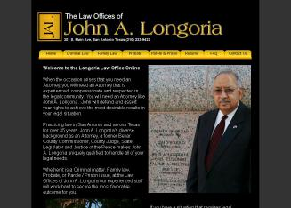 Longoria+John+A+Attorney+at+Law Website