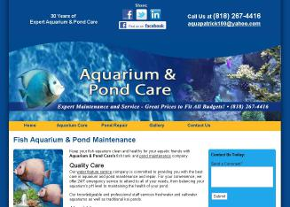 Aquarium+%26+Pond+Care Website