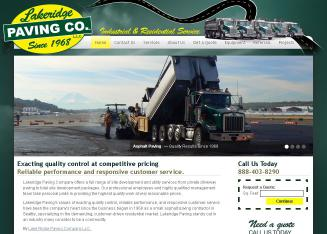 Lakeridge+Paving+Company Website