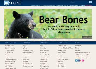 University+of+Maine Website