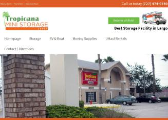 Tropicana+Mini+Storage Website