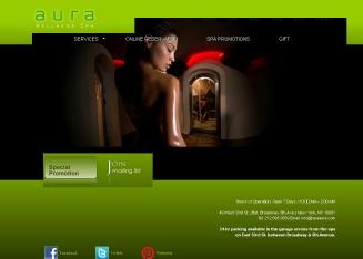 Aura+Wellness+Spa Website