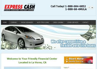 Express+Cash Website
