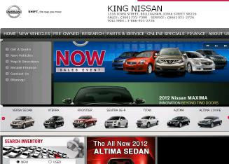 King+Nissan+Volvo Website