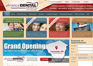 American+Dental+Solutions+P.C. Website
