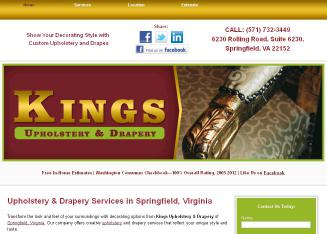 Kings+Upholstery+%26+Drapery Website