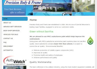 Precision+Body+%26+Frame Website