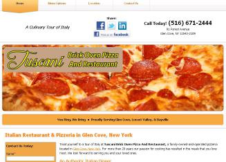 Tuscani+Brick+Oven+Pizza+And+Restaurant Website