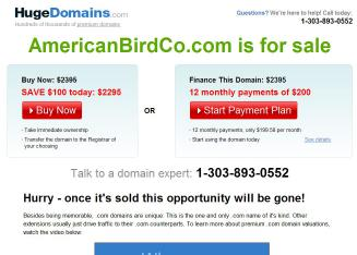 American+Bird+CO Website