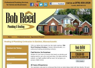 Reed+Bob+Plumbing+%26+Heating Website