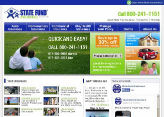Save up to 30 % State Fund Insurance Home &Auto