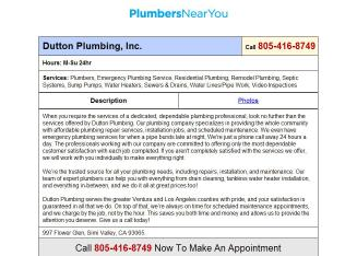 Dutton+Plumbing Website