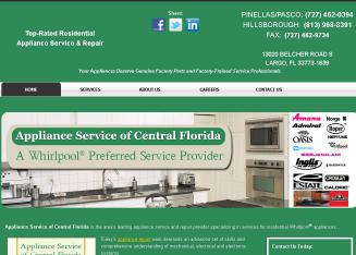 Appliance+Service+of+Central+Florida Website