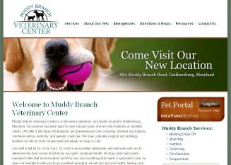 Muddy+Branch+Veterinary+Center Website