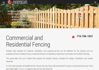 Oneida+Fence+Co Website