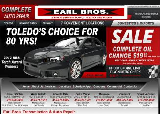 Earl+Bros.+Transmission+%26+Auto+Repair Website