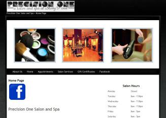Precision+One+Salon+And+Spa Website