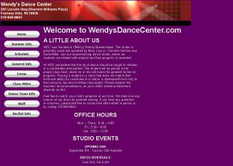 Wendy%27s+Dance+Center Website