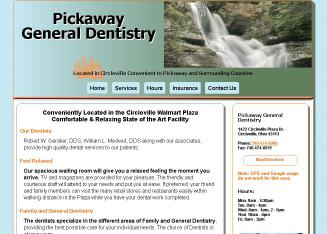 Pickaway+General+Dentistry Website