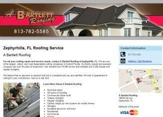 Bartlett Roofing Of Central Florida Inc In Zephyrhills, FL | 38408 3rd Ave,  Zephyrhills, FL