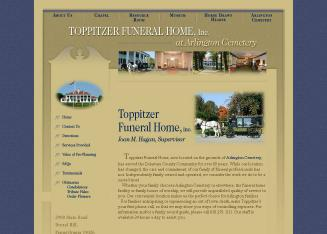 Toppitzer funeral home at arlington cemetery pictures