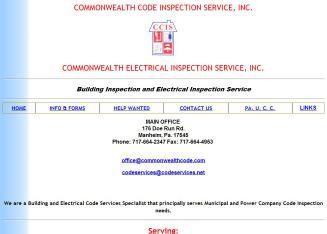 Commonwealth Code Inspection Service in Manheim, PA | 176 Doe Run Rd ...