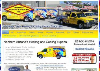 Moyer S Heating Cooling 8146 E Ashley Dr Prescott Valley Az