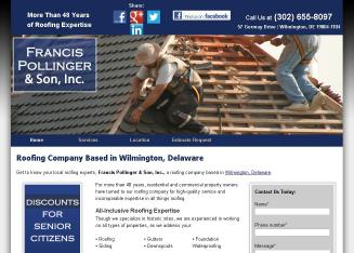 Francis Pollinger Son Roofing Co In Wilmington De 57 Germay Dr