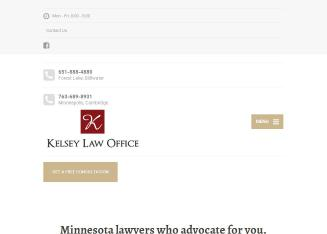 Marvelous Kelsey Law Office In Forest Lake, MN | 20 Lake St N, Forest Lake, MN |  Attorneys