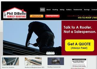 Elegant Phil DiBello Family Roofing In Baltimore, MD | 1440 E Clement St,  Baltimore, MD