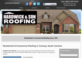 Hardwick U0026 Son Roofing In Conway, SC | 2049 Dirty Branch Rd, Conway, SC